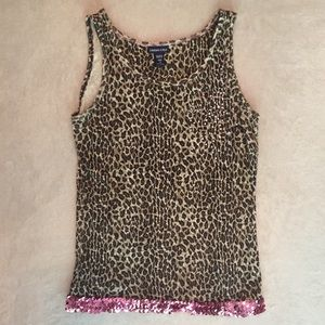 Limited Too Justice Girls Tank Top Leopard Print